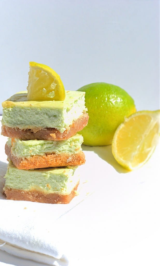 Low Carb Key Lime Cheesecake Bars - Perfect combination of sweet, tangy and low carb.