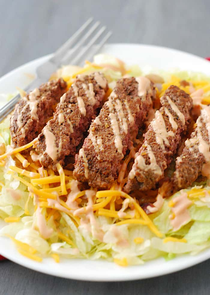 Cheeseburger Salad - The Low Carb Diet