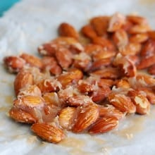 Caramel Candied Almonds - caramel goodness meets almond crunch.