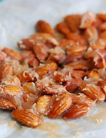 Caramel Candied Almonds