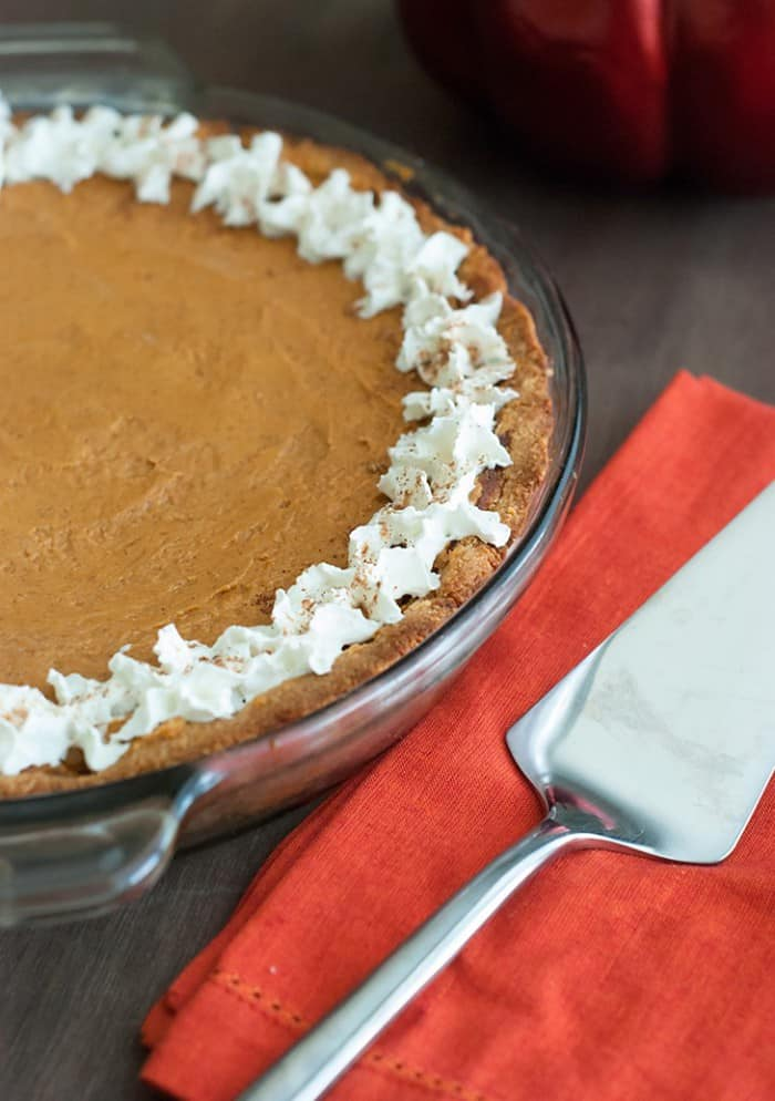 Pumpkin Pie - The best part about Fall is pumpkin pie, try this low carb version for a lighter treat.
