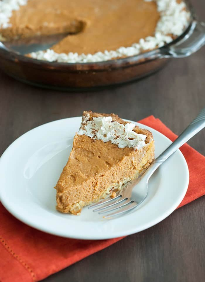 Low Carb Friendly Pumpkin Pie - Quick and easy recipe alternative to the unhealthy bakery style version.