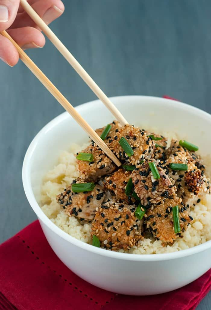 Sesame Crusted Tofu - a tasty twist on tofu that your sure to love.