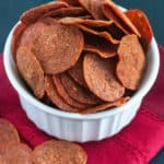 Pepperoni Chips - A quick snack that's incredibly crunchy, crispy and addicting!