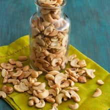Sour Cream and Onion Cashews - a low carb, gluten free snack