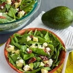 Low Carb Bacon Salad with Avocado and Goat Cheese