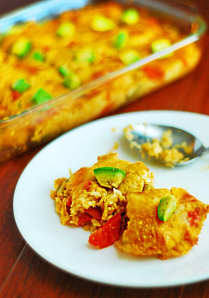 Low Carb Mexican Casserole - Delicious, easy, gluten free and vegetarian friendly mexican recipe.