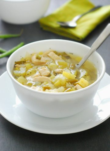 Low Carb Chicken Soup - this low carb soup is tasty, hearty and comforting without all the guilt.