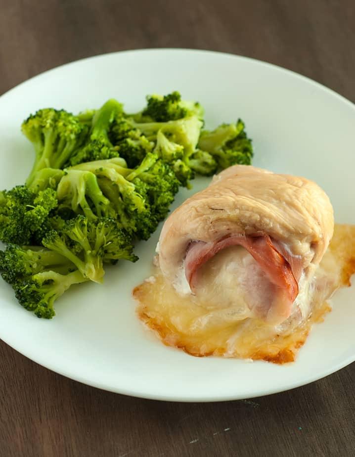 Low Carb Chicken Cordon Bleu - An easy recipe to serve company.