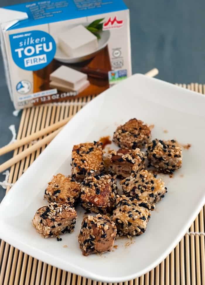 Sesame Crusted Tofu - tofu lovers and haters will love this dish like no other!