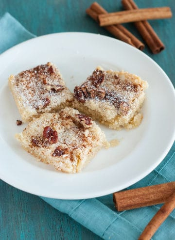 Cinnamon Pecan Cookie Bars